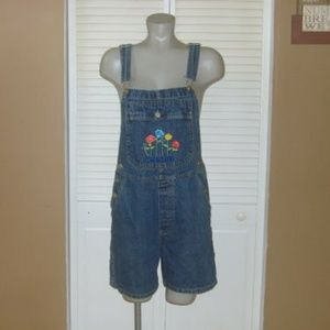 Cherokee Embroidered Shortalls Bib Overalls